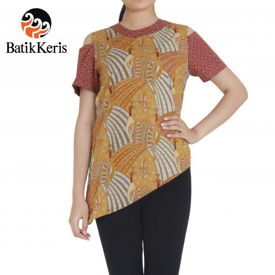 blouse batik keris motif merak ngibing