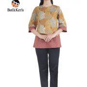 blouse motif merak ngibing batik keris