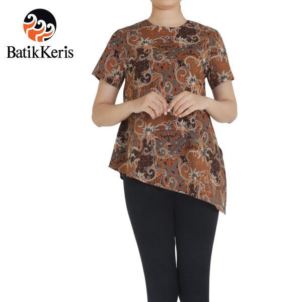 blouse batik motif bhinneka hitam