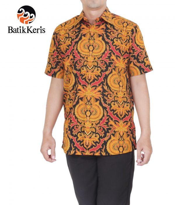 kemeja formal motif akar mekar batik keris