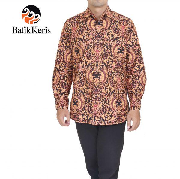 kemeja formal batik keris lengan panjang motif gurdo pusporejo