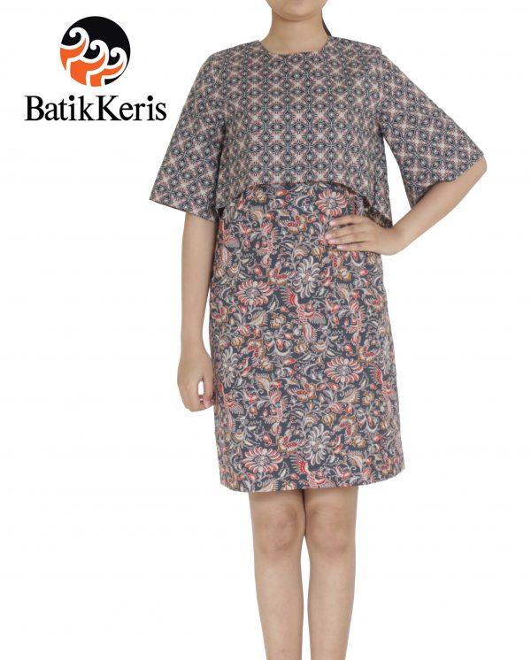 dress batik keris motif telung kahuripan
