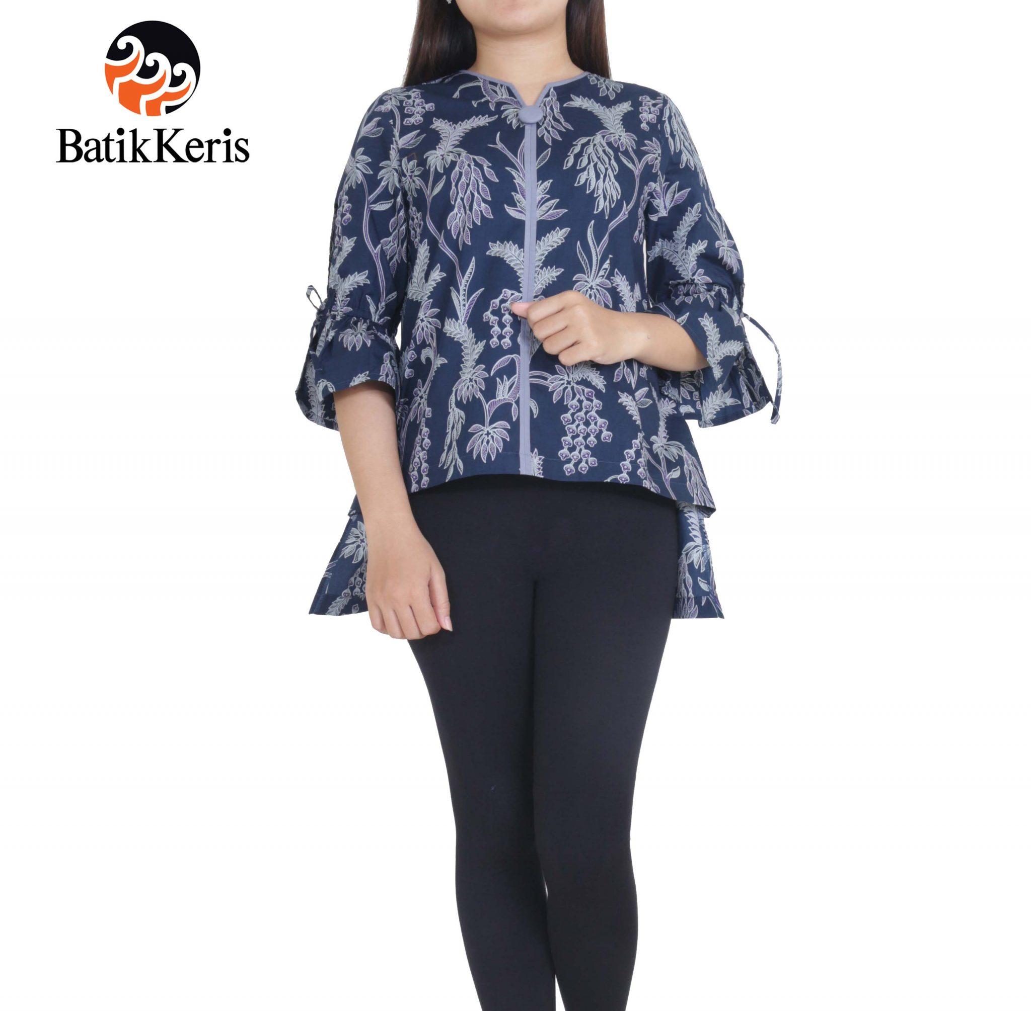 Batik Keris Online » BLOUSE LENGAN 3 4 KATUN MOTIF PUSPO SUMULUR 279a8d220d