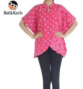 blus kelelawar motif daun pakis batik keris