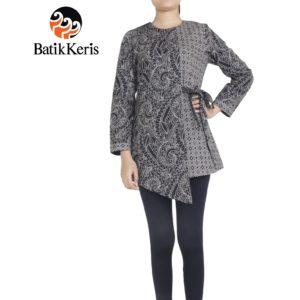 blouse muslim motif ukel samodro kombinasi tenun tinoto