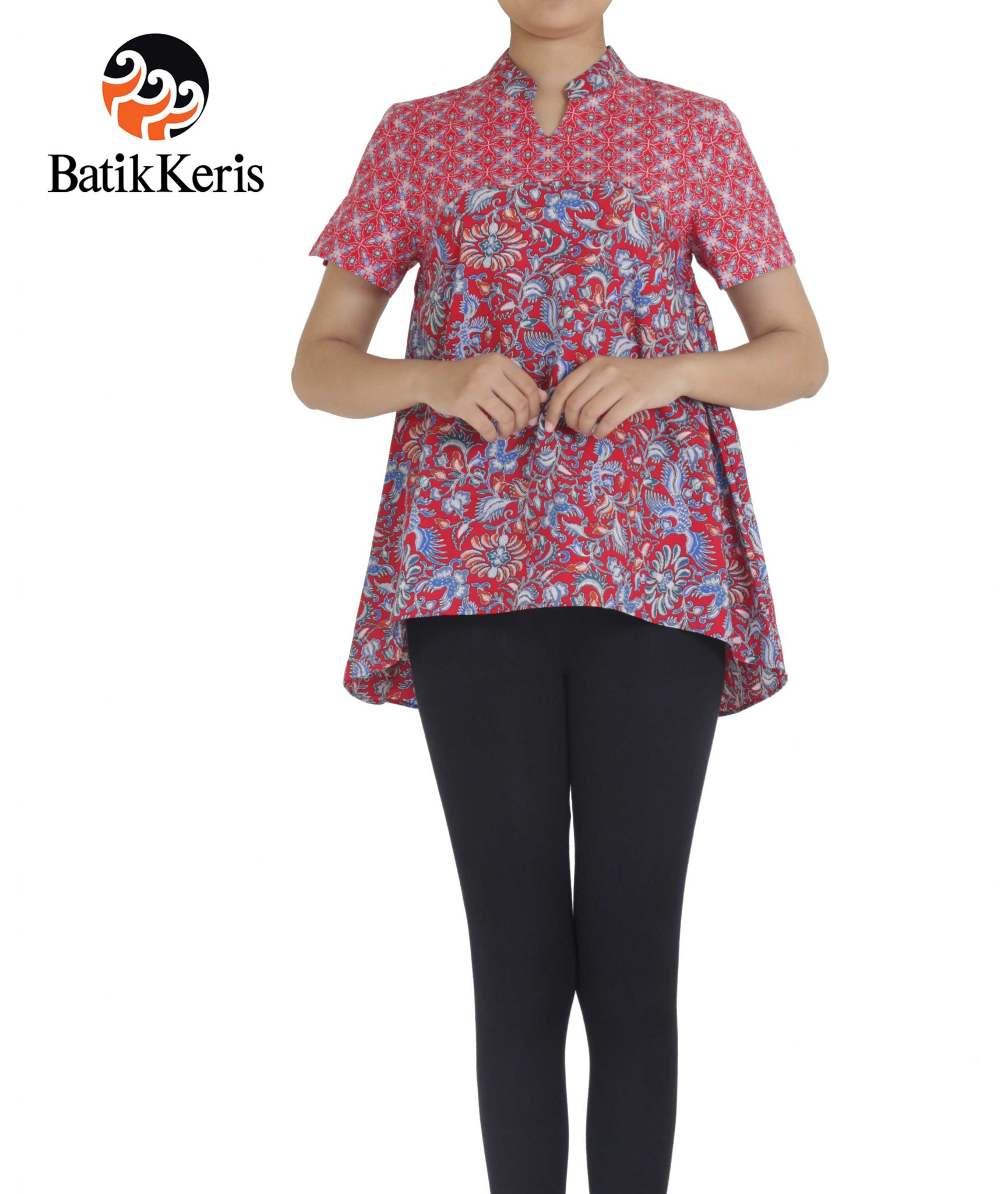 Blus motif telung kahuripan batik keris