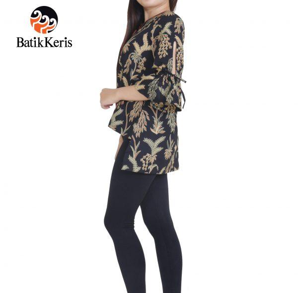 blus batik keris motif puspo sumulur