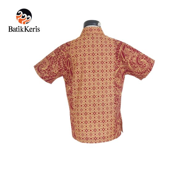 hem anak batik keris motif ukel samodro kombinasi tenun tinoto