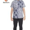 batik cap batik keris motif ukel banyu kombinasi ceplok timun hem kemeja batik slimfit