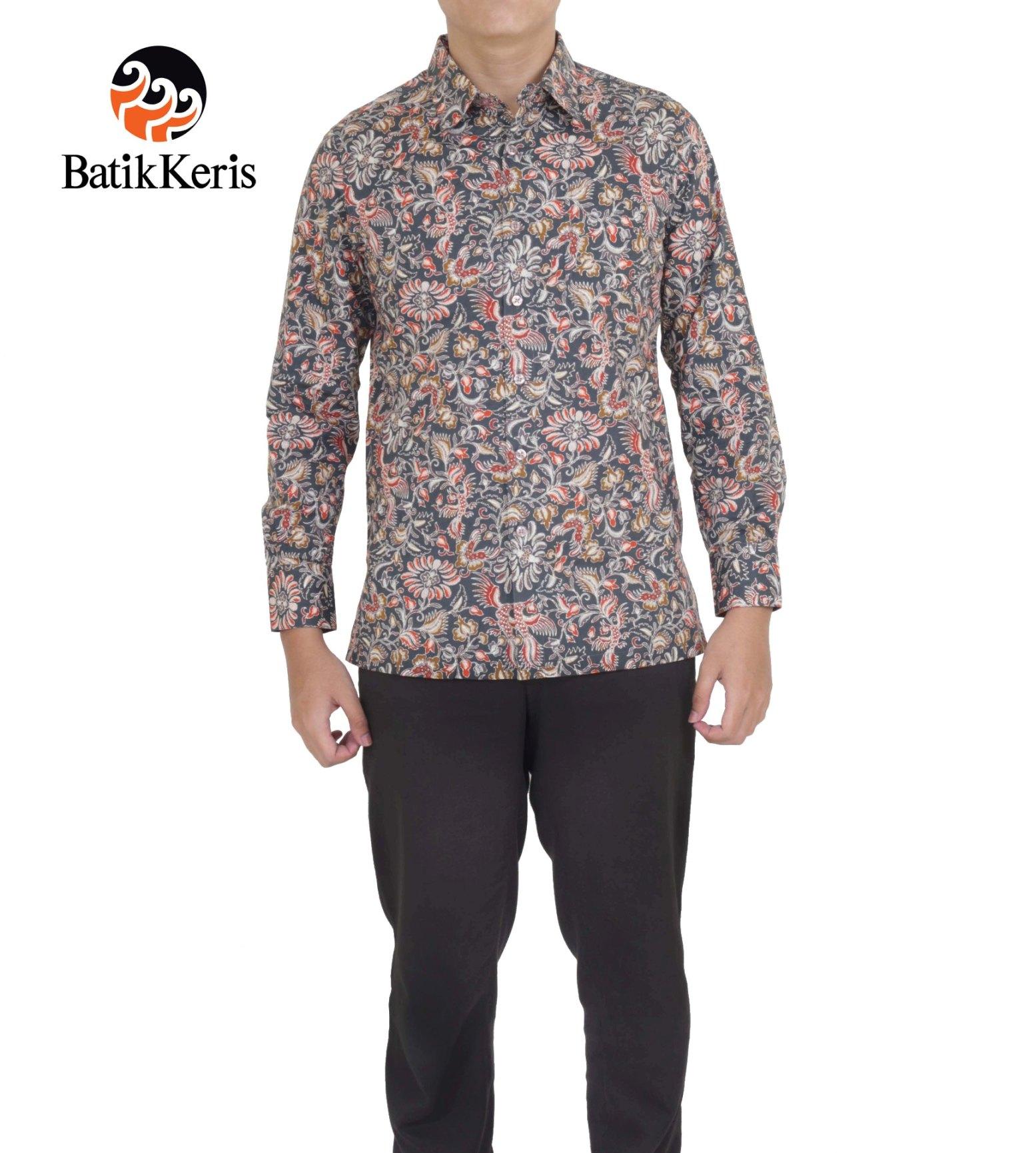 Batik Keris Online » KEMEJA BATIK SLIMFIT LENGAN PANJANG MOTIF ... 3c09f4d7a4