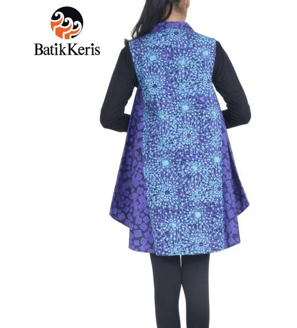 outer batik keris motif kembang api kombinasi