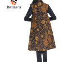 outer batik keris motif bunga bakung kombinasi tunum