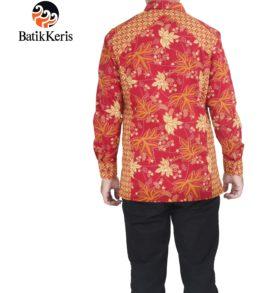 hem slimfit batik keris motif ron kinasih kombinasi kopi pecah promosi natal