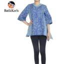 blouse batik keris ukel samodro kombinasi tenun tinoto