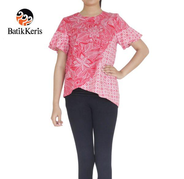 Blouse sumiar asri merah putih batik keris