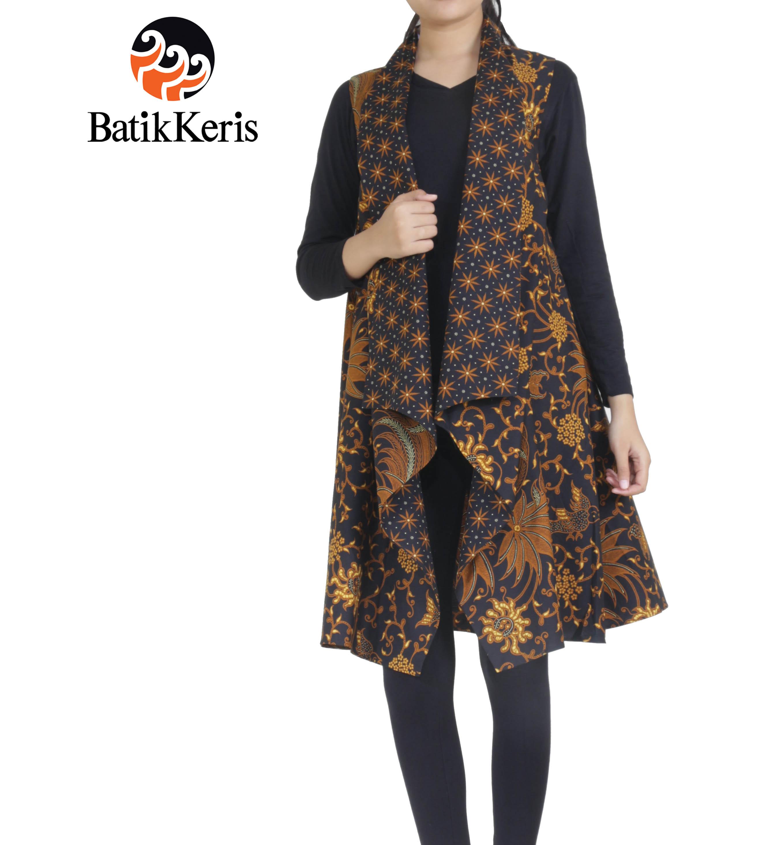 Outer Batik Motif Bunga Bakung Kombinasi Truntum