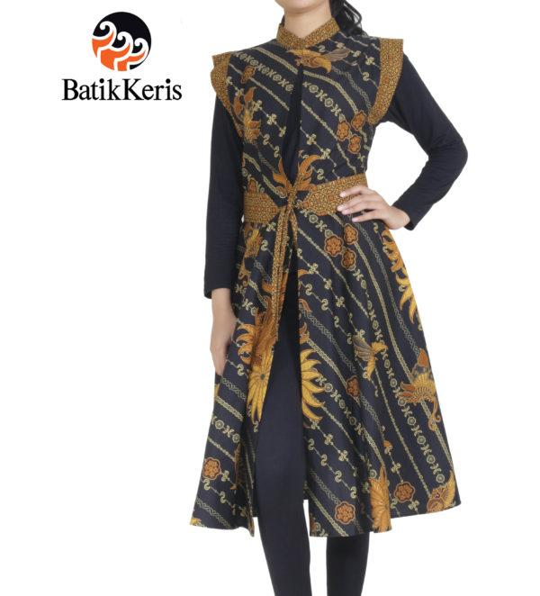 outer batik keris motif parang kembangan kombinasi nitik kencono