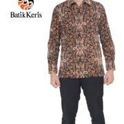 hem slimfit batik lengan panjang batik keris motif pisan bali mungil