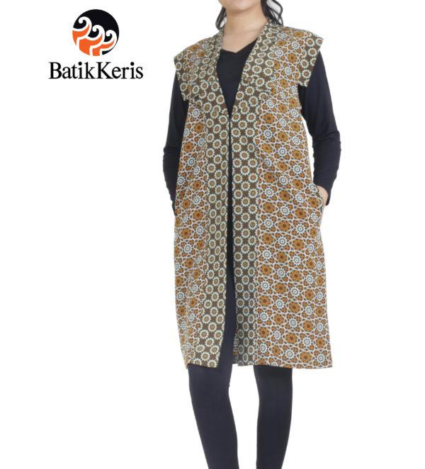 outer batik keris motif arabian art deco kombinasi arabian flower