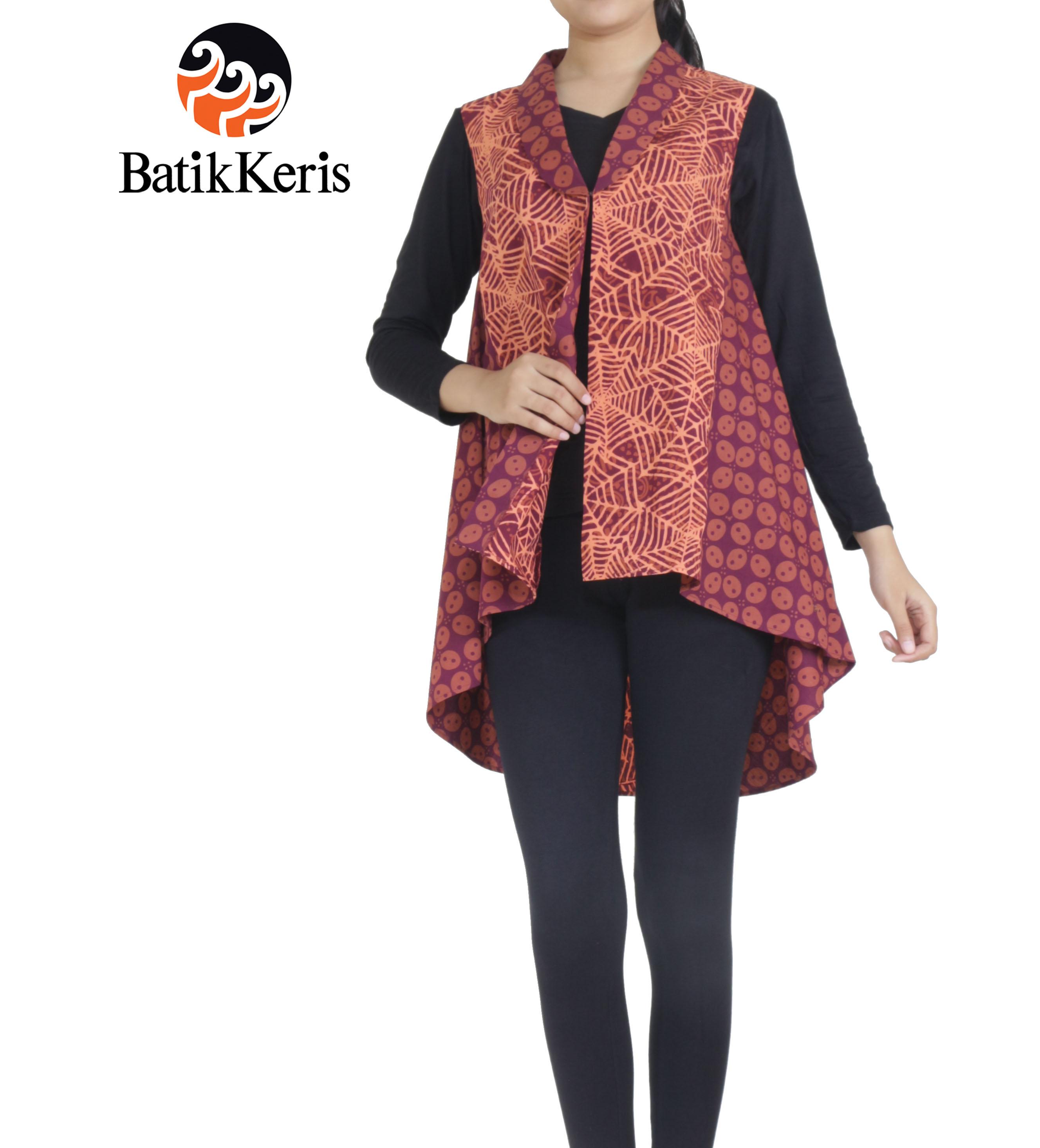 Batik Keris Warna Merah: OUTER BATIK MOTIF KEMBANG API KOMBINASI