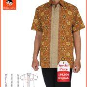 hem special price batik keris motif ceplok bunga serangkai