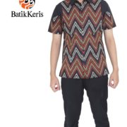 hem slimfit batik keris motif tirtotejo ageng kombinasi polos