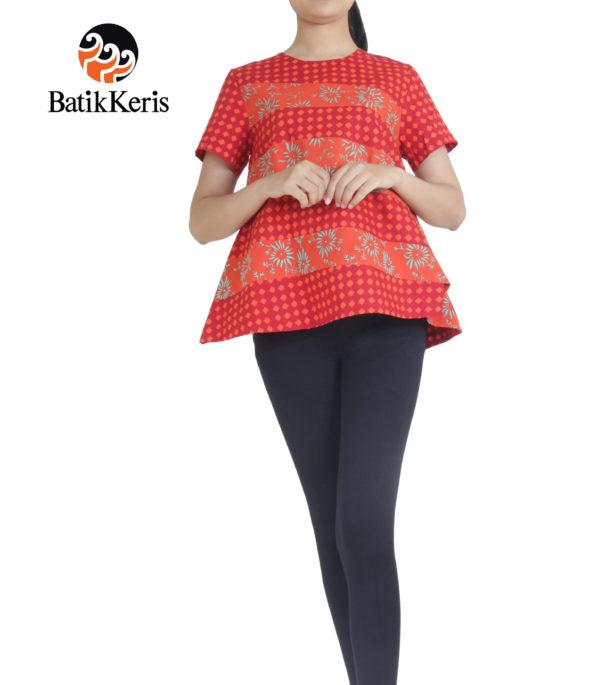 blouse batik cap batik keris motif sekar campursari