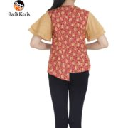 blouse lengan pendek batik keris motif cipto asih kombinasi gedekan