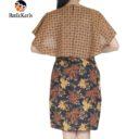 dress batik keris motif ron kinasih kombinasi kopi pecah