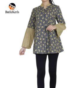 blouse lengan panjang batik keris motif cipto asih kombinasi gedekan