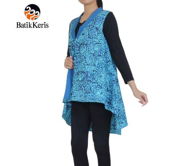 outer batik krah setali motif kembang api kombinasi