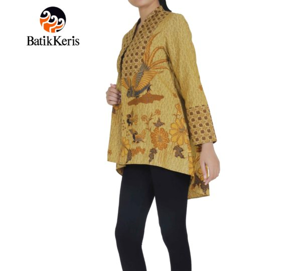 outer batik lengan panjang motif peksi sekawan kombinasi bayu pandoyo