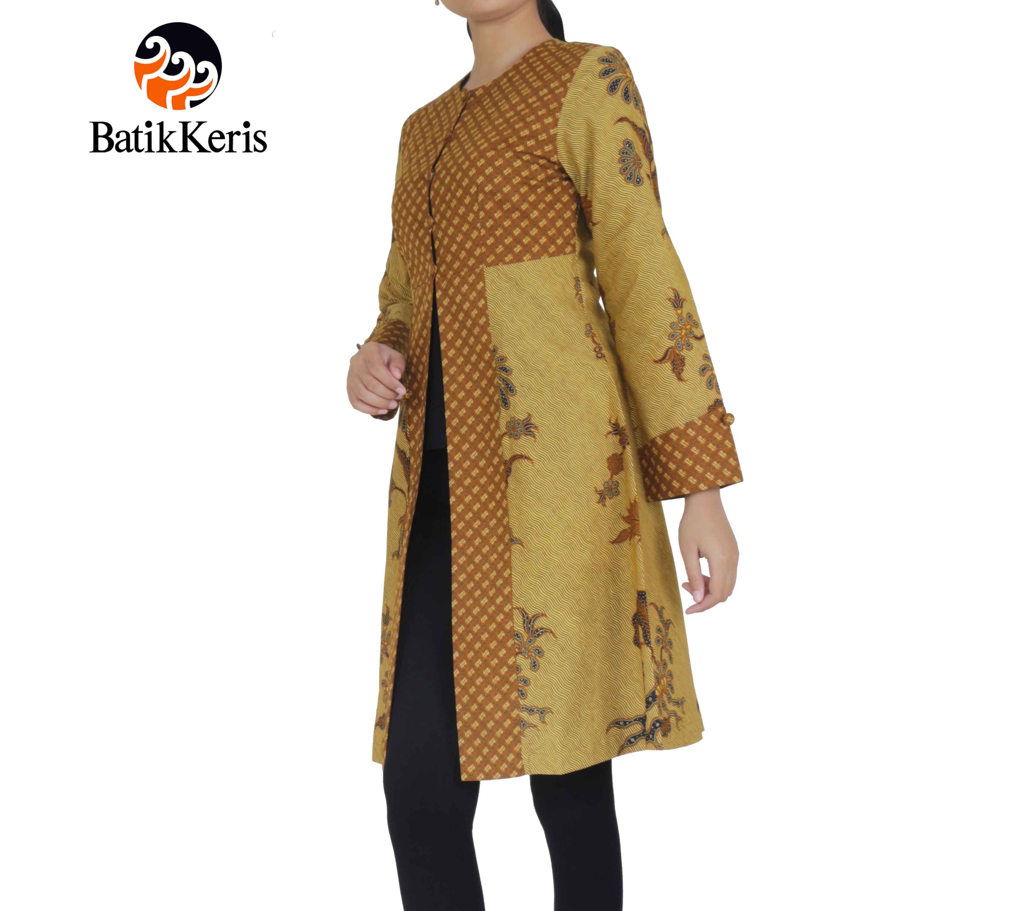 Outer Batik Lengan Panjang Motif Lar Condrowinoto Kombinasi Nitik Rahayu