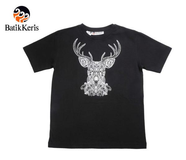 t-shirt natal batik keris motif rusa