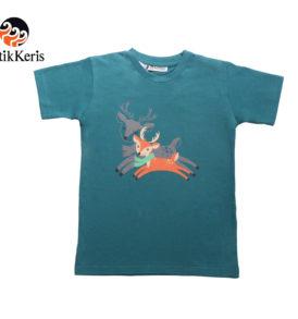t-shirt natal anank batik keris motif rusa kembar