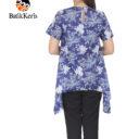 blouse batik keris motif ron kinasih kombinasi kopi pecah
