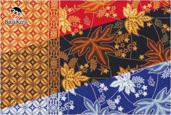 bahan batik motif ron kinasih kombinasi kopi pecah