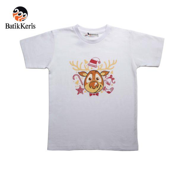 t-shirt natal anank batik keris motif rusa