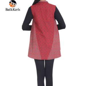 outer batik motif kawung kombinasi
