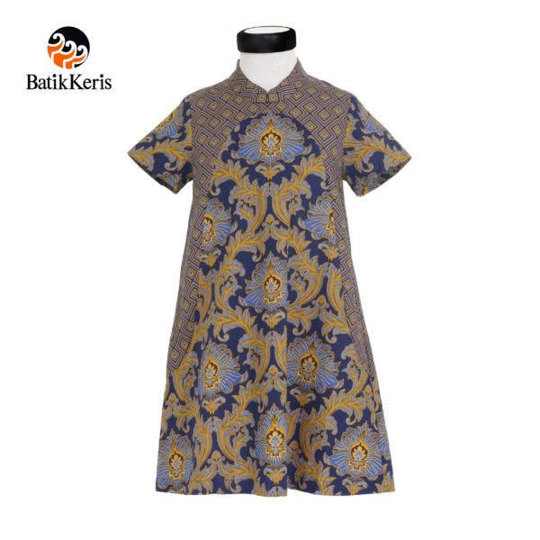 rok terusan anak motif bunga teratai kombinasi tinoto