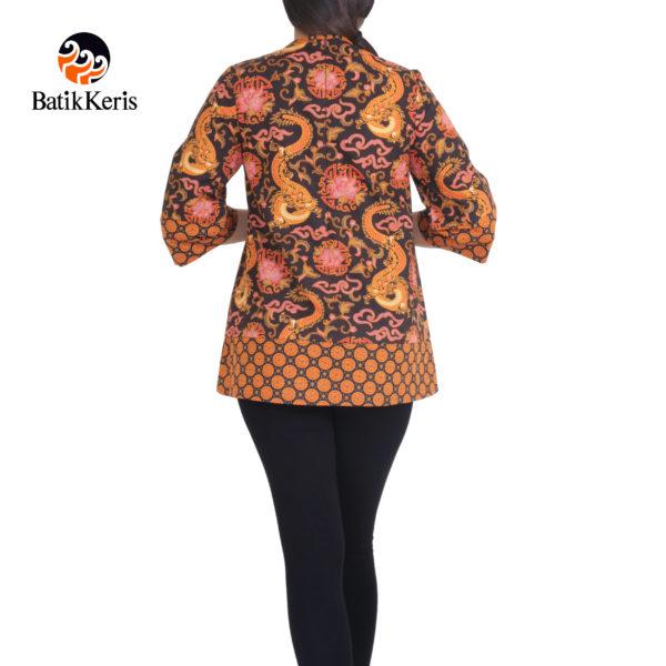 blouse batik keris lengan 3/4 motif naga wijaya kombinasi suminar