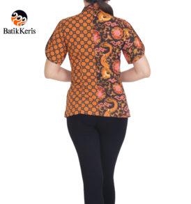 blouse batik keris lengan pendek motif naga wijaya kombinasi suminar