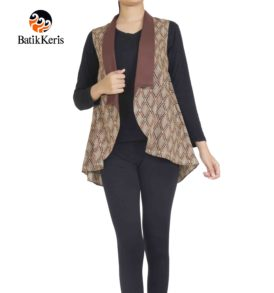 outer batik motif agra dumilah kombinasi polos