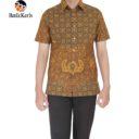 kemeja slimfit batik keris lengan pendek motif lung wahu pramono kombinasi truntum melati
