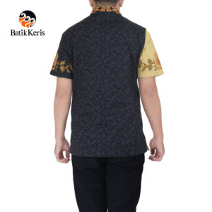 kemeja s;imfit lengan pendek batik keris motif naga wicaksana