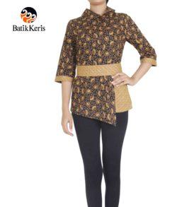 blouse lengan 3/4 motif cipto asih kombinasi gedekan