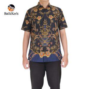 kemeja batik lengan pendek motif ron asmoro