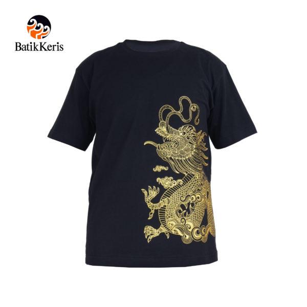 t shirt batik keris motif naga gold