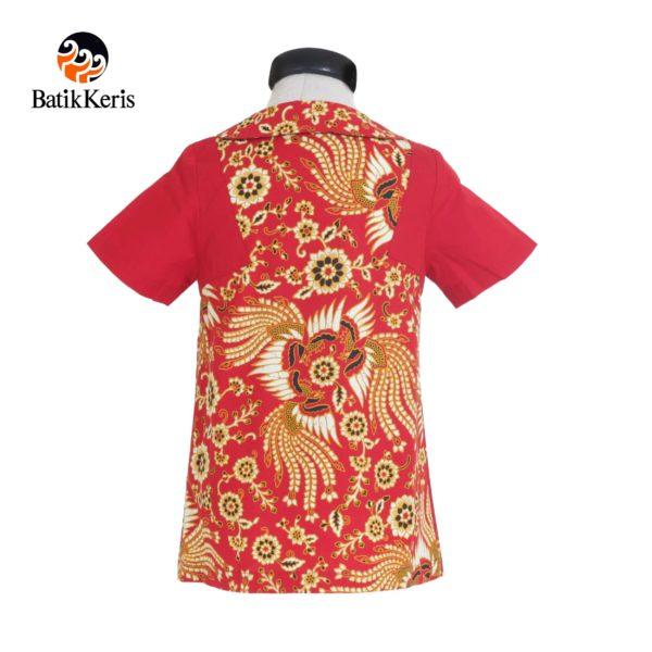 blouse anak batik keris motif kukilo selaras imlek