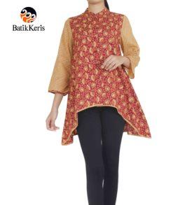 blouse muslim lengan panjang motif cipto asih kombinasi gedekan